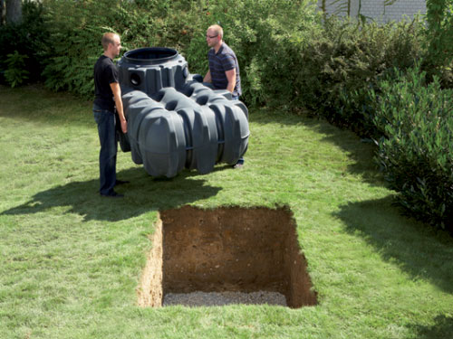 Underground water storage tanks could help you conserve water efficiently.